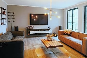 living room remodelling grey brown