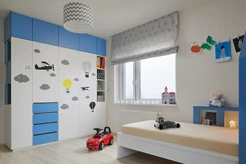 boy's room blue custom wardrobe