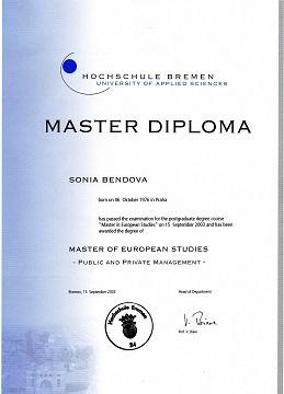 sona markova master diploma germany