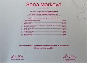 sona markova interior designer certificate