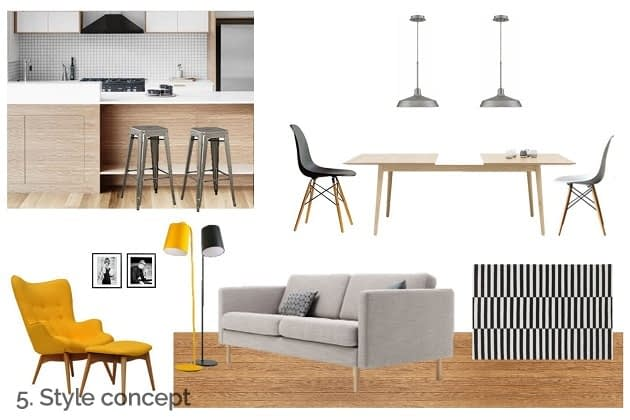 interior design project style concept collage