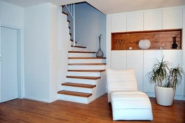 living room remodelling oak floor stairs