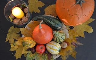 podzimní dekorace interier
