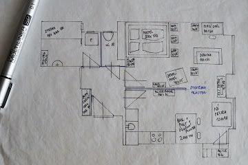 Realizace návrhu interiéru půdorysné řešení